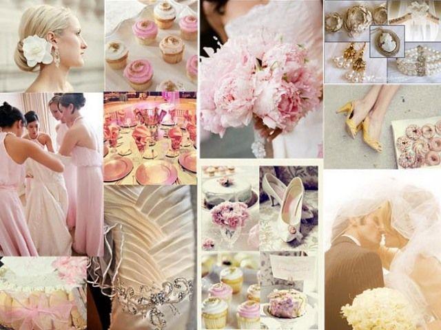 Vintage Hochzeit Deko Pastellfarben Rosa Gelb