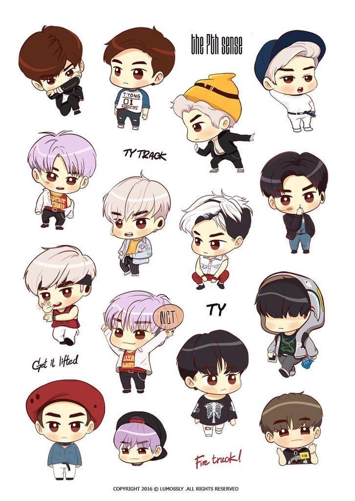 Lumoϟϟlly Lumosslly Twitter Cute Stickers Chibi Nct Taeyong