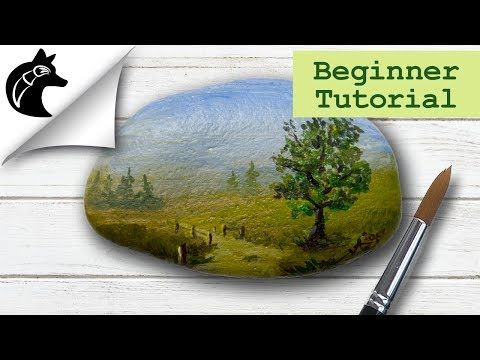 Rock Painting Tutorial For Beginners Simple Landscape