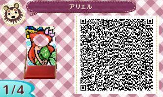 Disney Little Mermaid Face Board Animal Crossing New Leaf Qr Code
