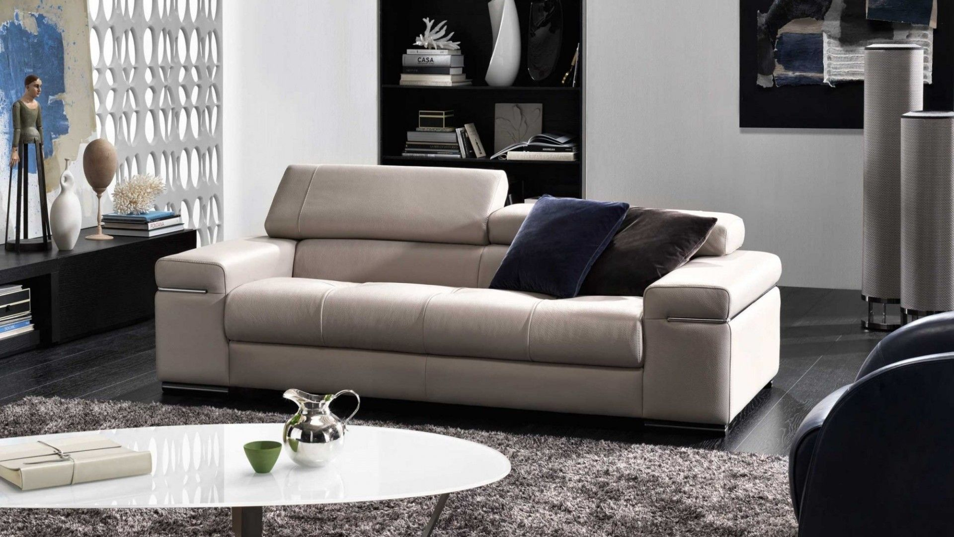 Natuzzi Italia Leather Avana Sofa