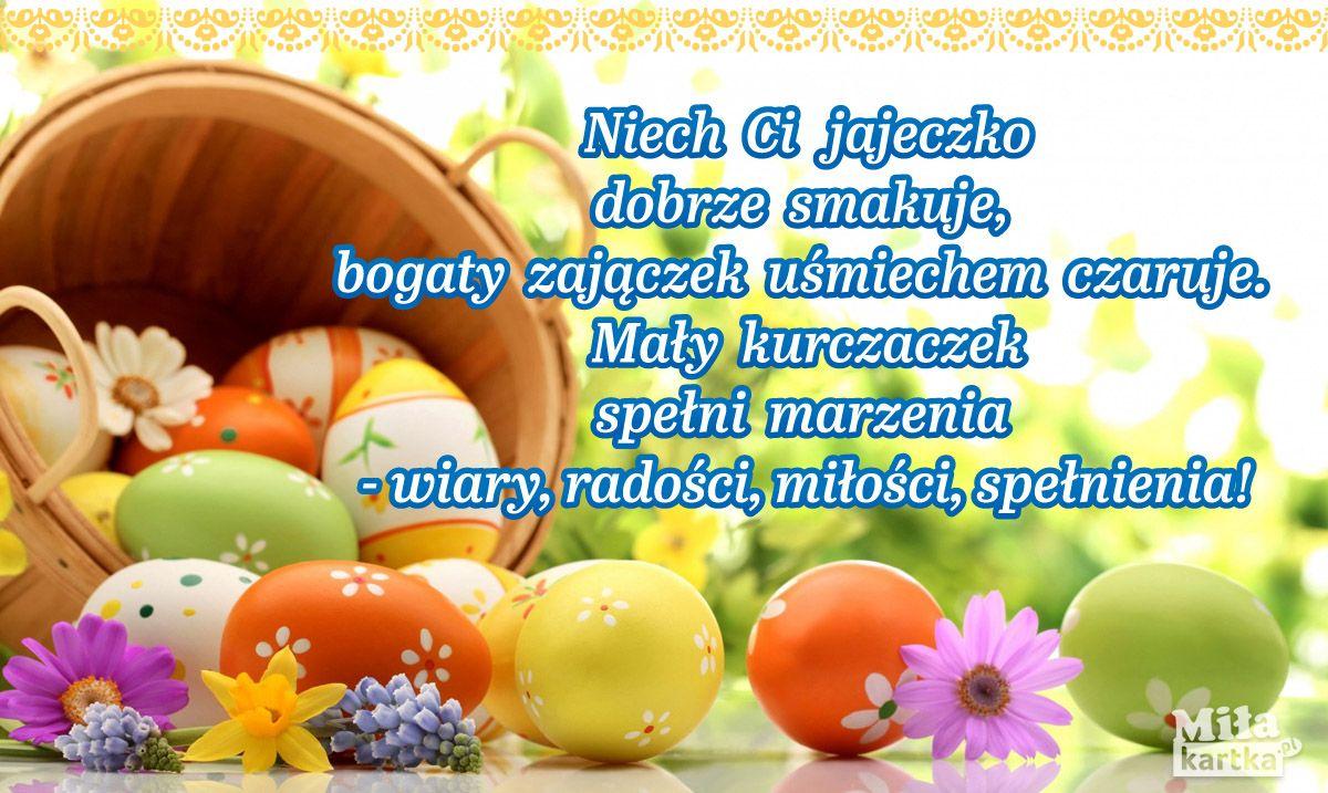 Wierszyk Na Wielkanoc Kartki Wielkanocne Wielkanoc