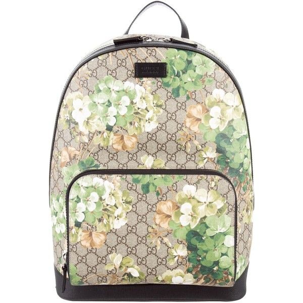 cdac87426a8 Pre-owned Gucci 2016 GG Supreme Blooms Backpack ( 1