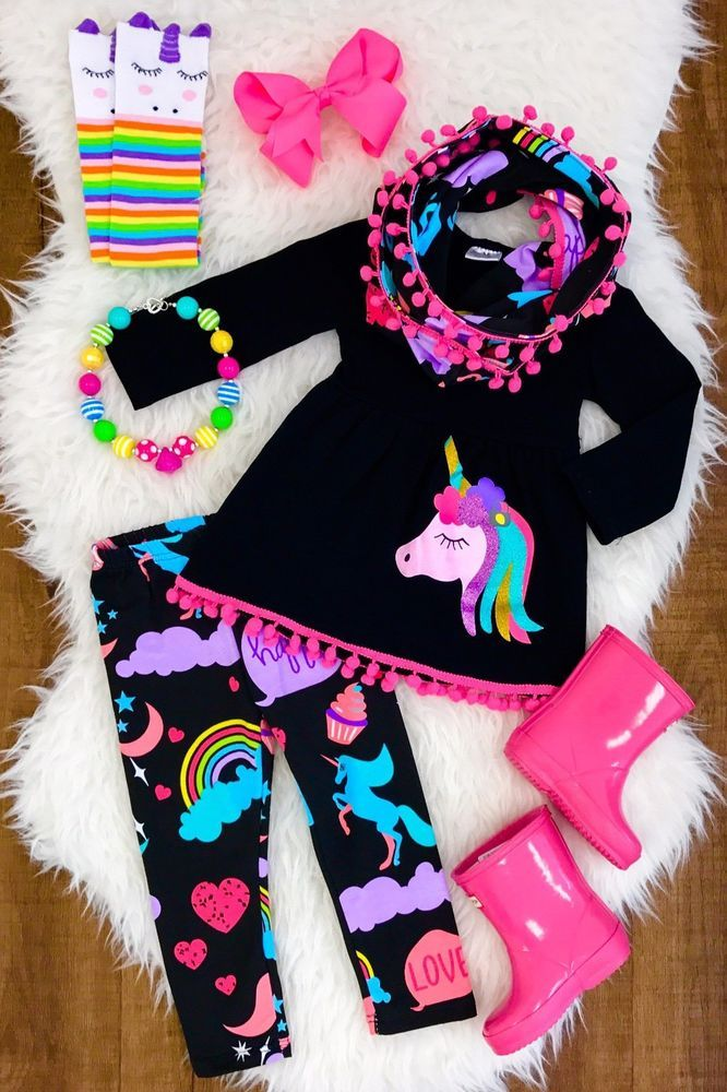 9c4941972e447 Unicorn Boutique outfit FREE MATCHING SCARF girl's set school fall autumn # Everyday