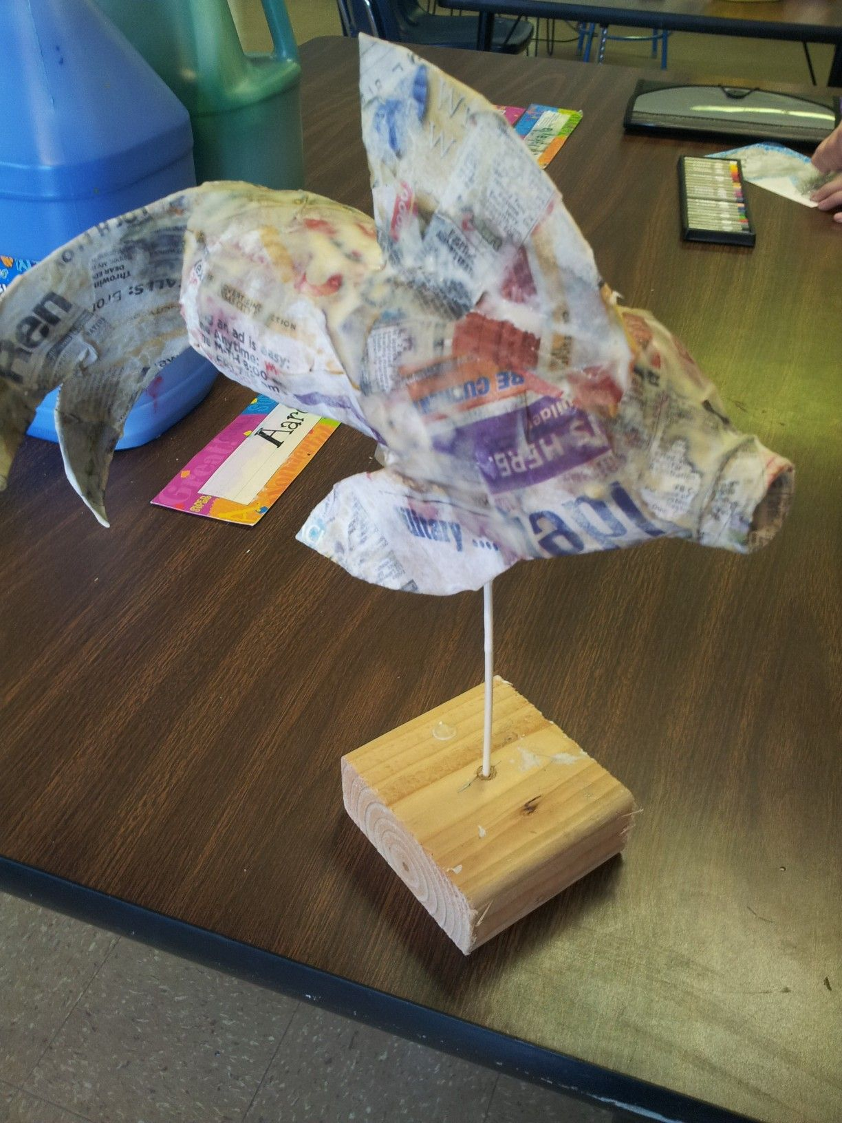 Schooled In Love Water Bottle Fish Art Lessons Elementary
