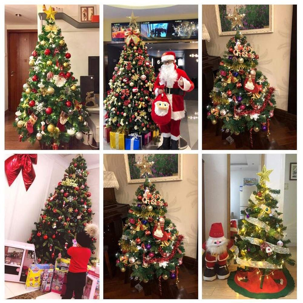 Ywy Christmas Tree Decorations 6foot Tree Artificial Christmas Pine Tree Hinged Branches For In 2020 Outdoor Christmas Tree Pre Lit Christmas Tree Green Christmas Tree