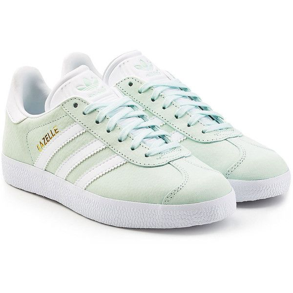separation shoes 196e5 90d79 Adidas Originals Suede Gazelle Sneakers ( 129) ❤ liked on Polyvore  featuring shoes, sneakers