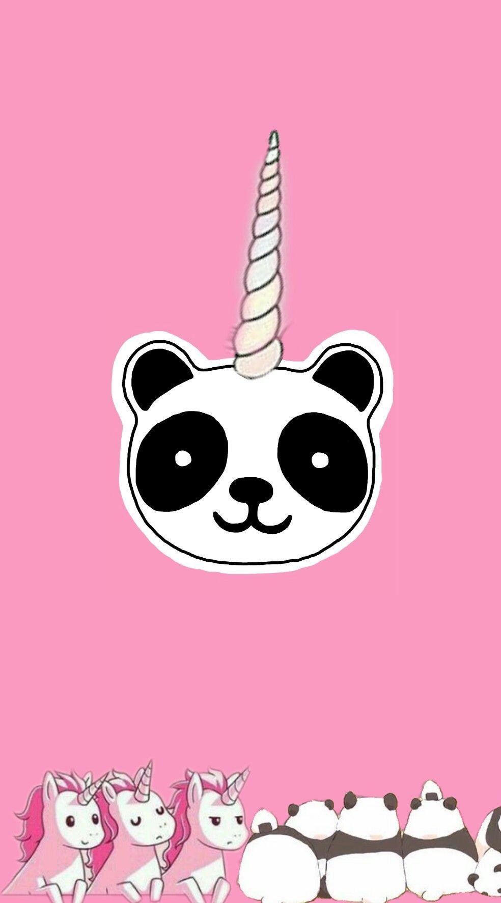 Photo By Queemerdaein Freetoedit Wallpaper Panda Unic Pandacorn Cute Doodles Cute Panda Wallpaper Panda Party