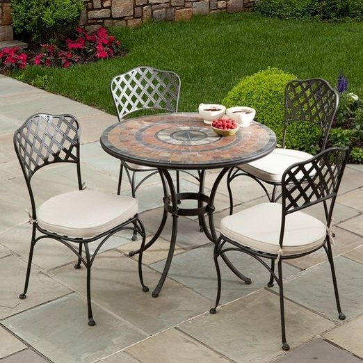 The Asti Marble Mosaic Outdoor Dining Collection Tile Pinterest