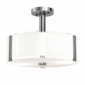 Artika Lucidane Round Semi Flush Led Ceiling Light Costco Led