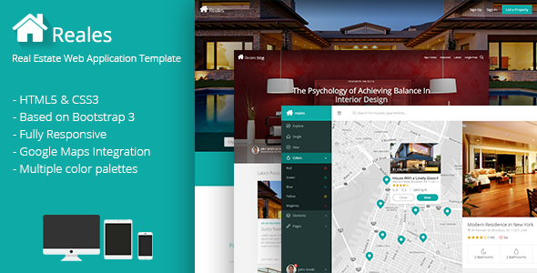 Reales - Real Estate Web Application Template | Themeforest