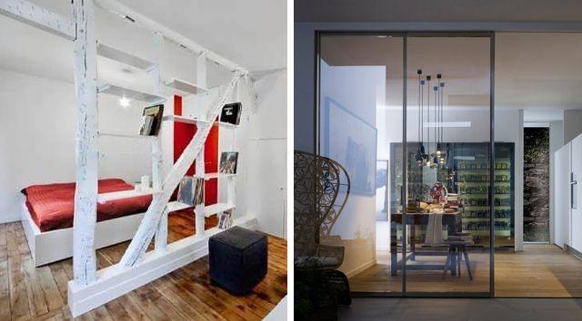 Separadores de espacios a techo separaci n de ambientes - Separadores de espacios ...