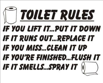 Toilet Quotes  Crafty Ideas  Pinterest  Toilet Bathroom Impressive Bathroom Etiquette Signs For Office Decorating Design