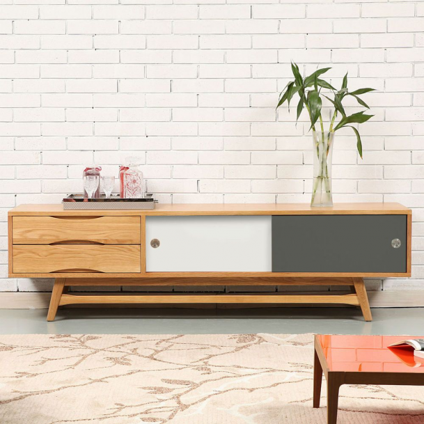 Svend Danish Entertainment Tv Unit Oak Wood Reversible Doors 180x45x In 2020 Scandinavian Storage Furniture Mid Century Storage Furniture Scandinavian Tv Stand