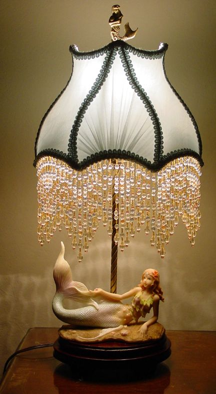 Exceptional Mermaid Lamp   I Would Take Off The Hanging Crystals, And This Would Be  Beautiful!