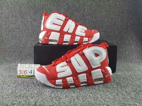New Arrival Nike Air More Uptempo Supreme Suptempo 902290 600 Red White EUR  36-45 b98a5b5f6