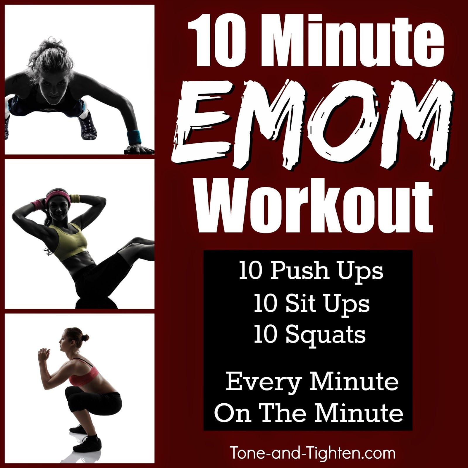 10 Minute Emom Workout Shred It At Home With No Equipment Required Emom Workout Workouts Without Equipment Best Body Weight Exercises