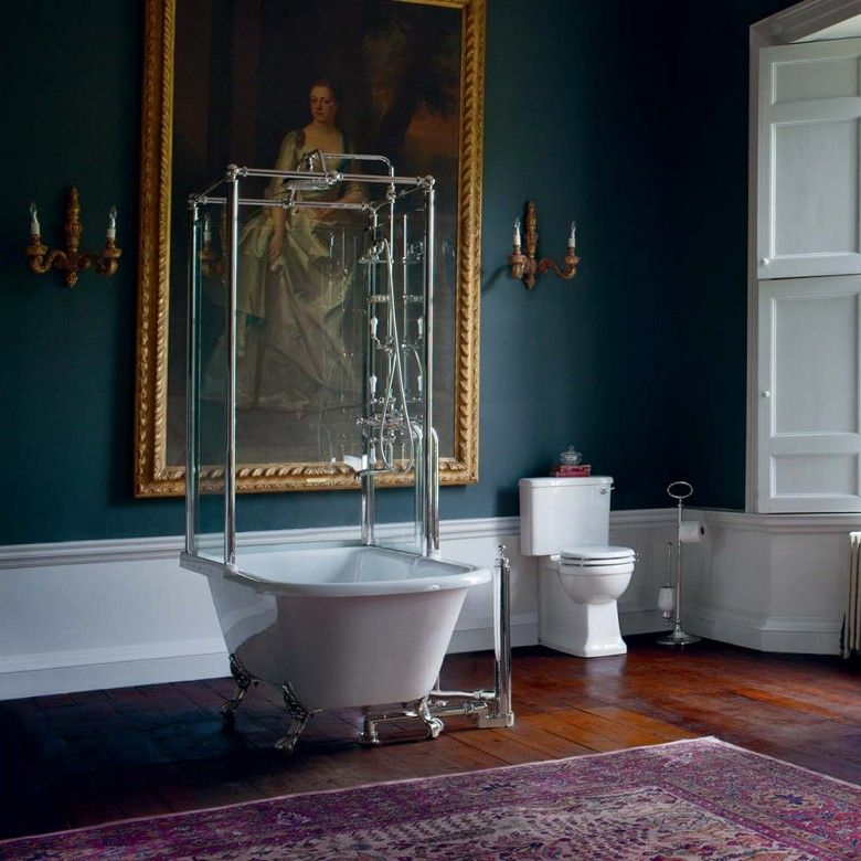 Arcade Royal Freestanding Roll Top Bath with Shower Temple ...
