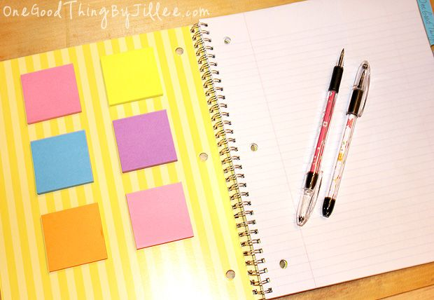 The secret weapon for getting organized a post it note for Construction organizer notebook