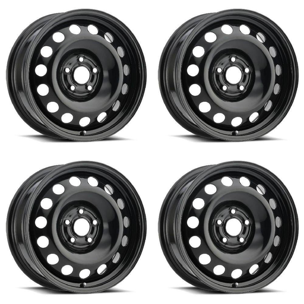 Set 4 17 Black Oval Steel Wheel 5x110 42mm Ideal For Snow Winter Wheels Vision Steel Wheels Wheel Steel