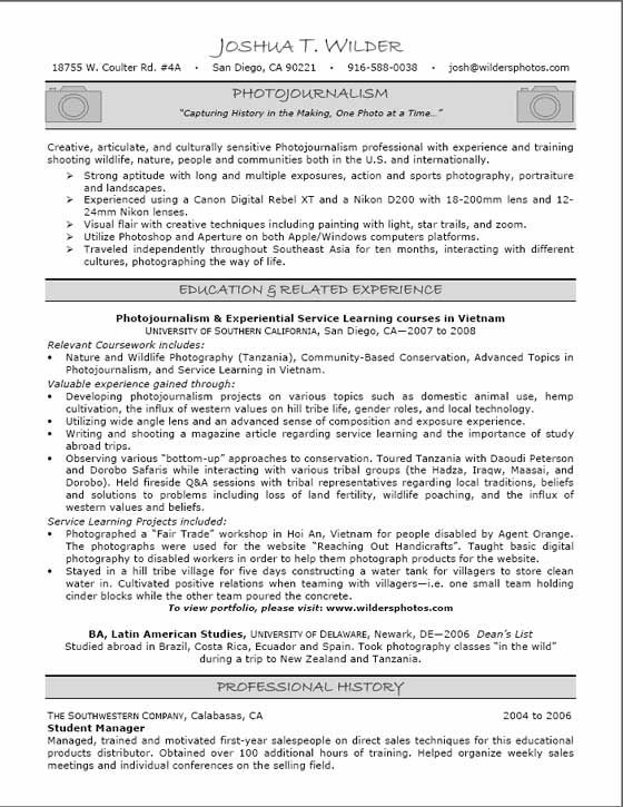 Relevant Coursework In Resume Example - http\/\/wwwresumecareer - entry level jobs resume