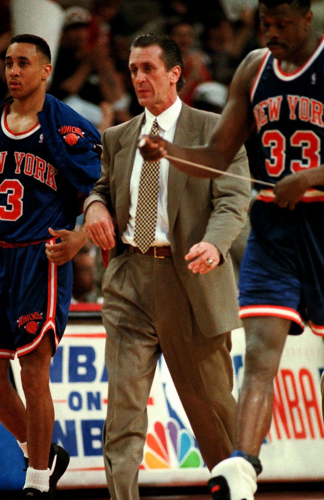 Nba Basketball New York Knicks: John Starks, Pat Riley & Patrick Ewing Www.kingsofsports