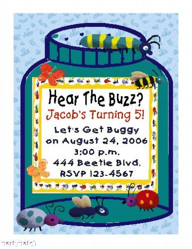 Bugs bug jar custom insects birthday party invitations birthdays bug birthday invitation filmwisefo