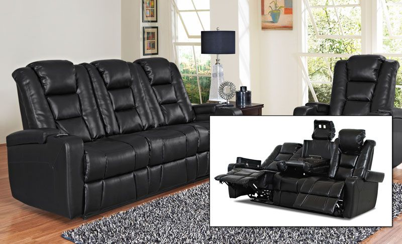 Command Power Recliner Sofa   Grand Home Furnishings | 0230339