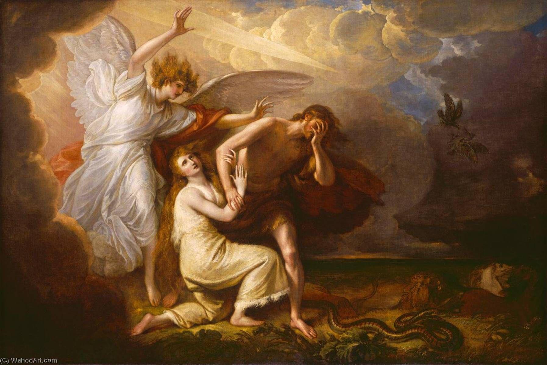 Benjamin West El Expulsión De Adán Y Eva Desde Paraíso Adan Y Eva Historias De La Biblia Para Niños Arte Renacentista Pintura