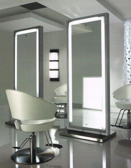 Lighted Mirror For Dressing Room American Beauty Equipment Is Salon Ambience Chicago And Features The Salon Interior Design Beauty Salon Decor Salon Furniture