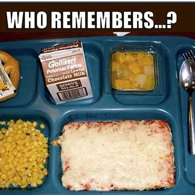OH my word... Lunch back in the day!