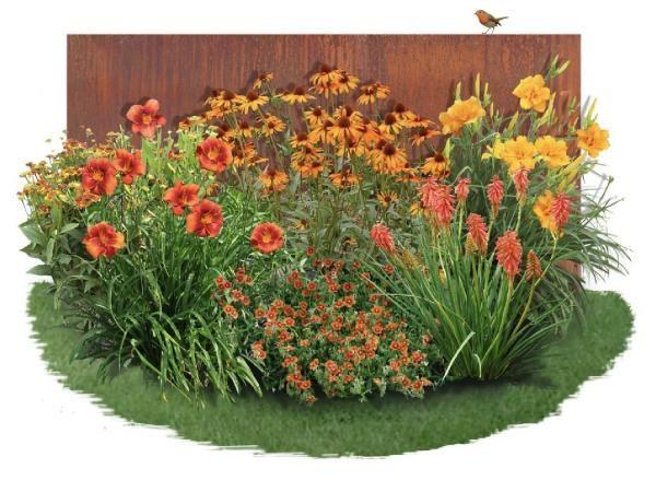 Charmantes Schattenbeet Blüten-& Blattschmuck für lichtarme Gartenbereiche