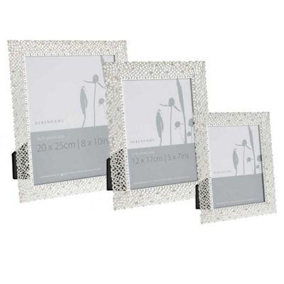 Debenhams Silver Delicate Diamante Photo Frame Debenhams Frame