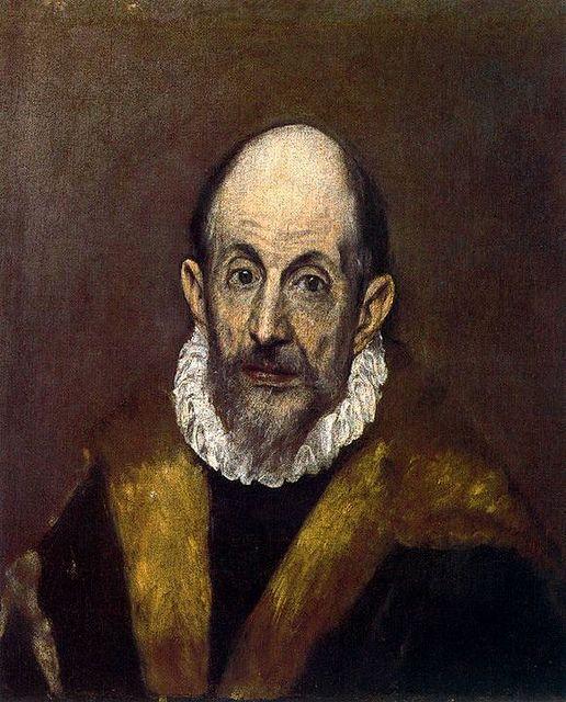 Download Portrait of a Man (presumed self-portrait of El Greco),circa 1595-1600, oil on canvas ...
