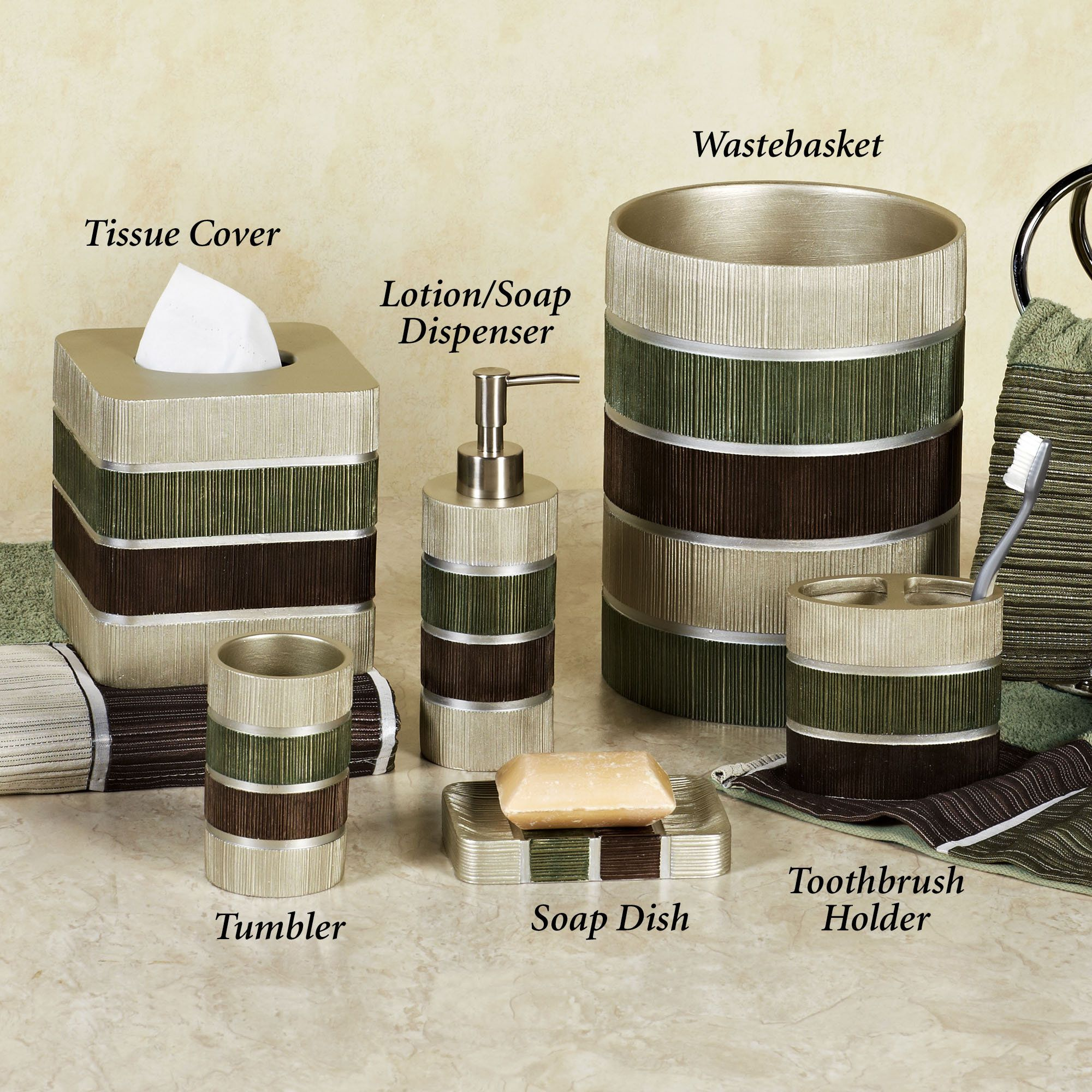 sage green and brown bathroom modern line sage lotion soap