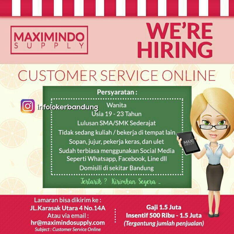 Lowongan Kerja Customer Service Online Maximindo Supply