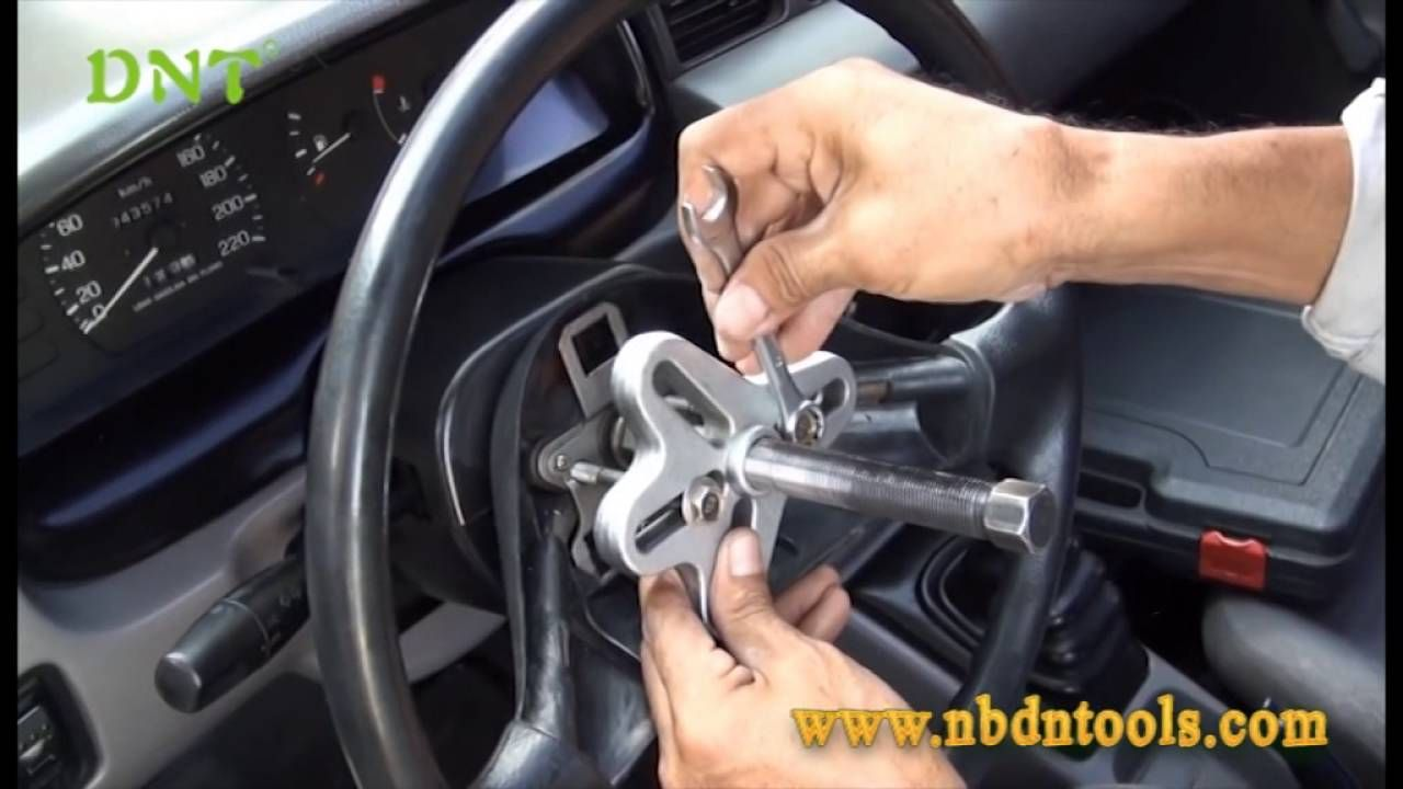 How To Remove Steering Wheel By Harmonic Balancer Puller Car