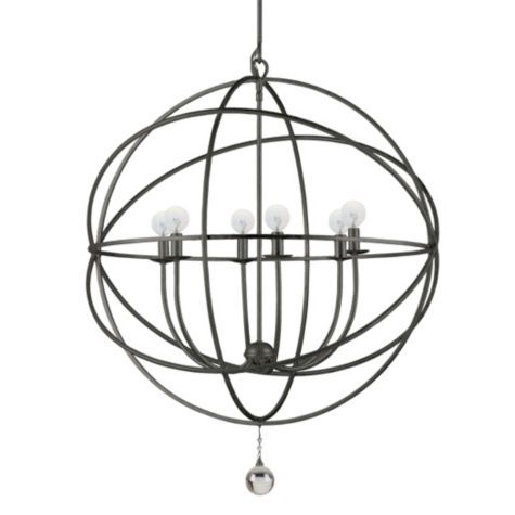 Eclipse Chandelier English Bronze Solaris Chandelier Orb