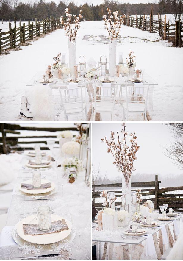 Winter Wedding Tischdeko Pinterest Winterhochzeit