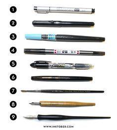 Best Inking tools: The InkTober Initiative - Mr Jake Parker
