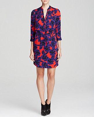 DIANE von FURSTENBERG Dress - Freya Poppy Leopard | Bloomingdale's
