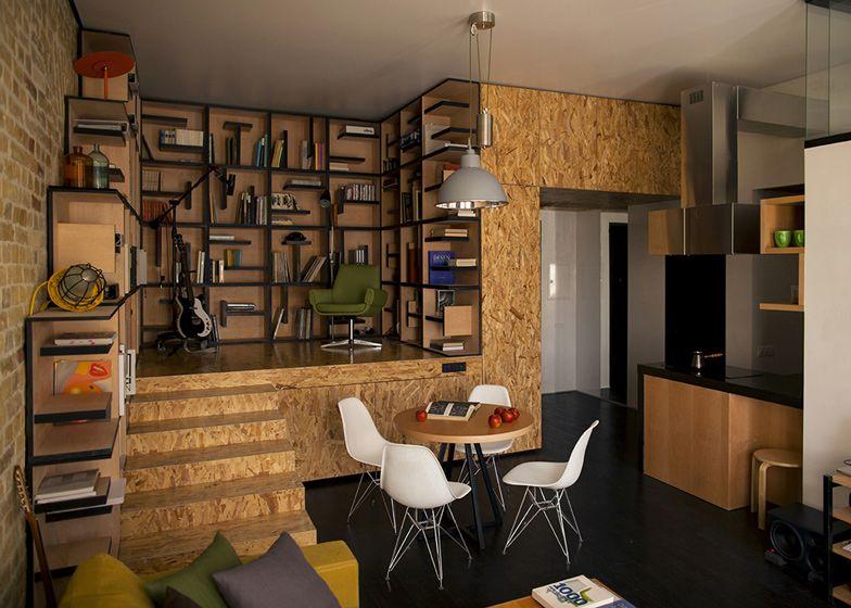 Traditionele Moderne Inrichting : Osb platen interieur maximalism inrichting