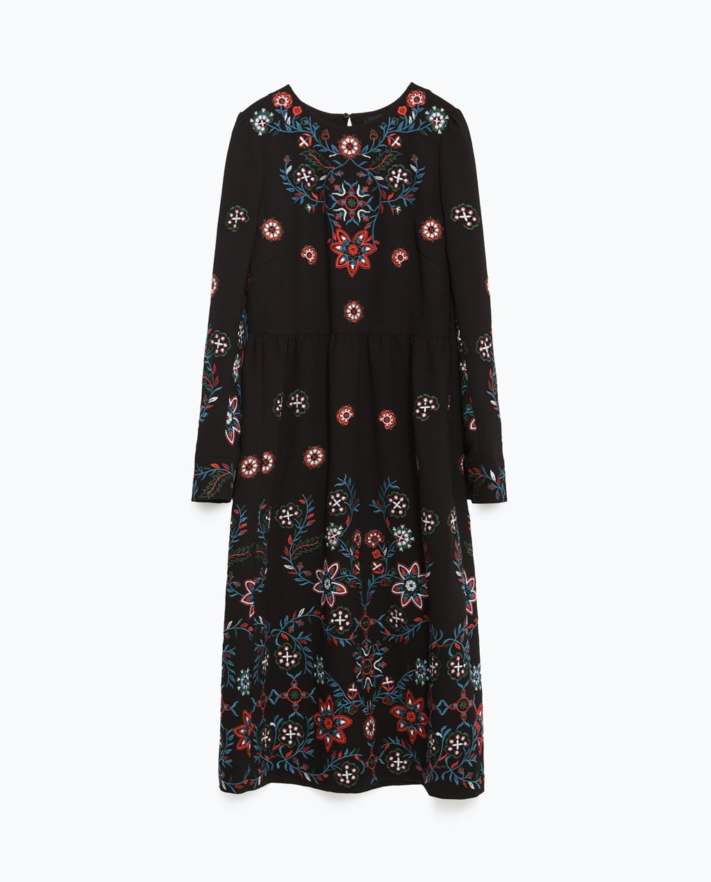 Image of long embroidered dress from zara odjeca pinterest