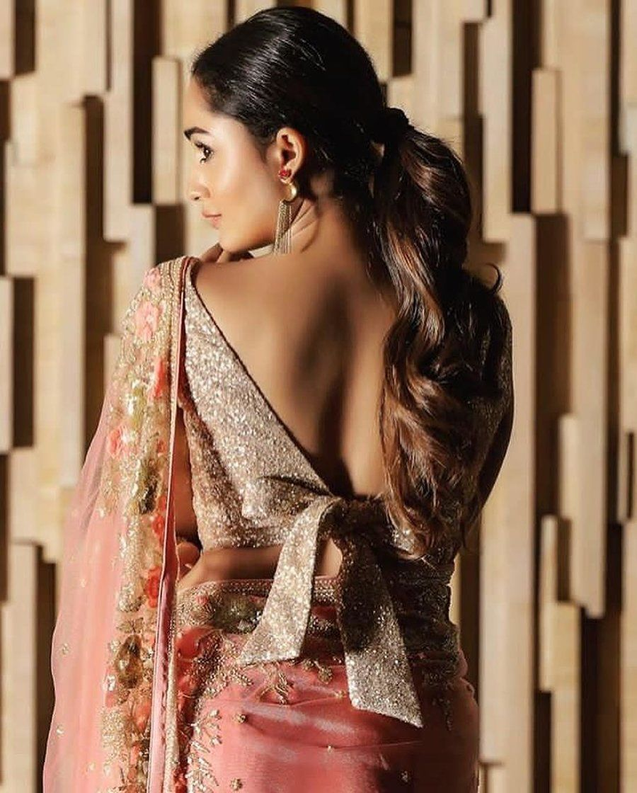 Image result for The Backless Bow Tie Blouse in bridal lehenga