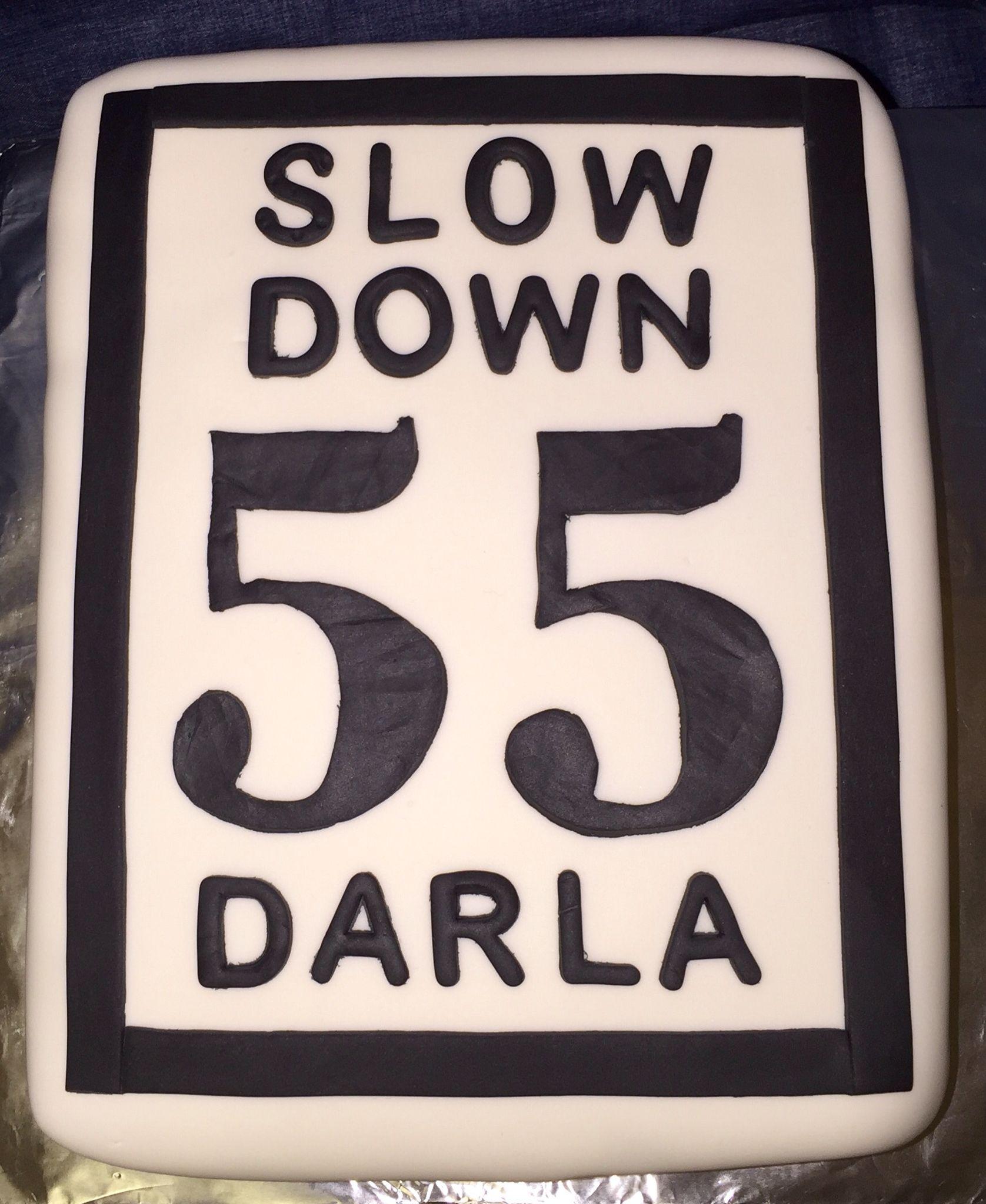 55th Birthday Cake 55thbirthday Doublenickles Speedlimitcake