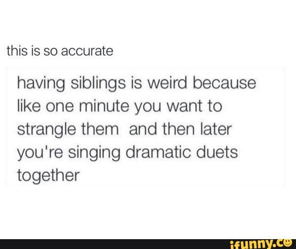 Siblings memes. Best Collection of funny Siblings pictures on iFunny