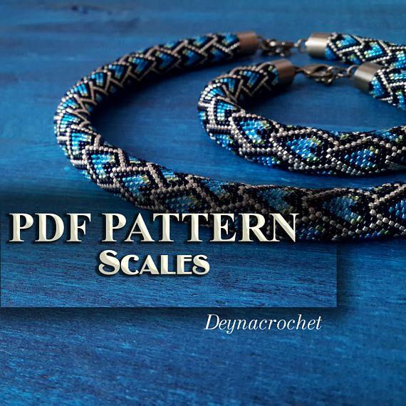 Pdf Pattern For Beaded Crochet Necklace Jewelry Patterns Pdf Pattern