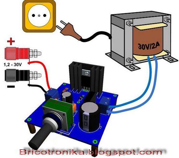Por Muy Poco Dinero Podemos Construirnos Esta Fuente De Alimentación Con Sali Circuitos Electronicos Para Armar Electricidad Y Electronica Electronics Projects