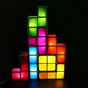 Tetris Constructible Desk Lamp Light Blocks Lamp Retro Magic Stackable Led Light Retro Desk Lamp Led Night Light Lamp