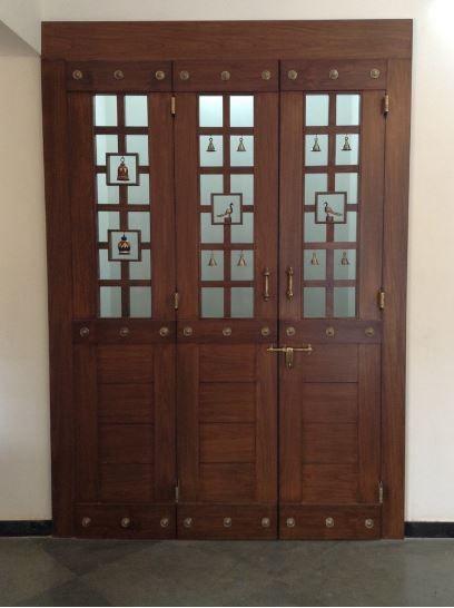 10 Pooja Room Door Designs That Beautify Your Mandir Entrance: Room Door Design, Door Design